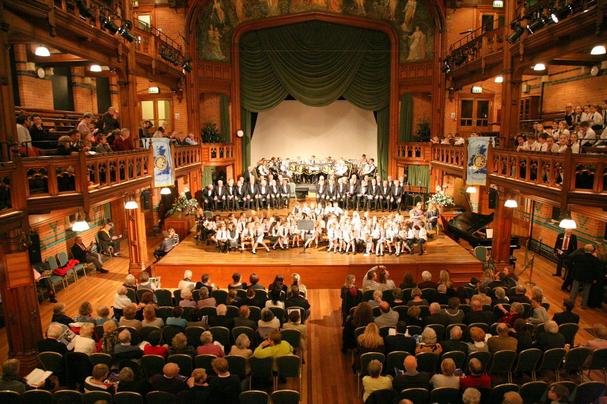 Choirs and Band within the Princess Hall
