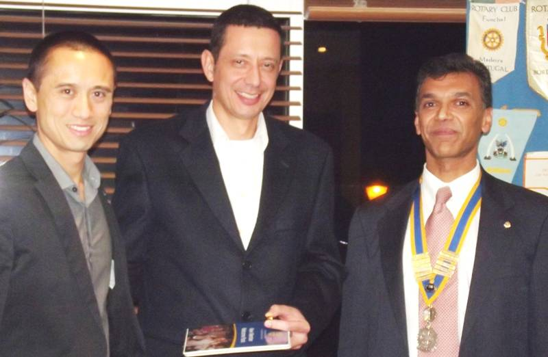 Cenk (centre) with Simon and Hemant