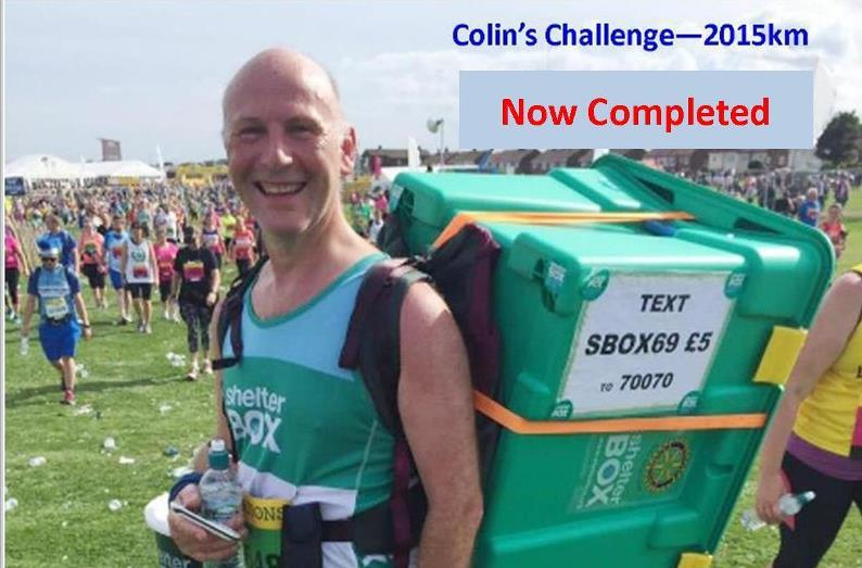 COLIN'S CHALLENGE - Latest -