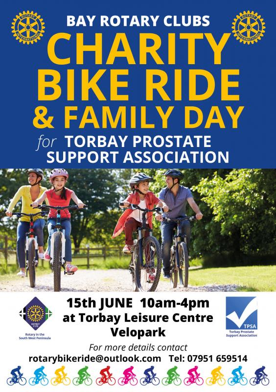 Prostate Cancer Charity Bikeride by Bay Rotary Clubs