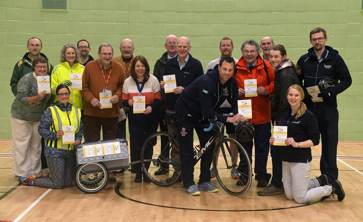 Famous Somerset cricketer, Marcus Trescothick launches Taunton Rotary Club's 2018 Charity Cycle Ride.