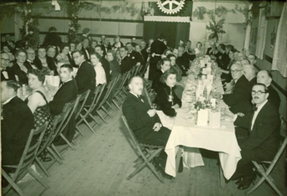 Our History - Inaugural charter dinner - November 1954