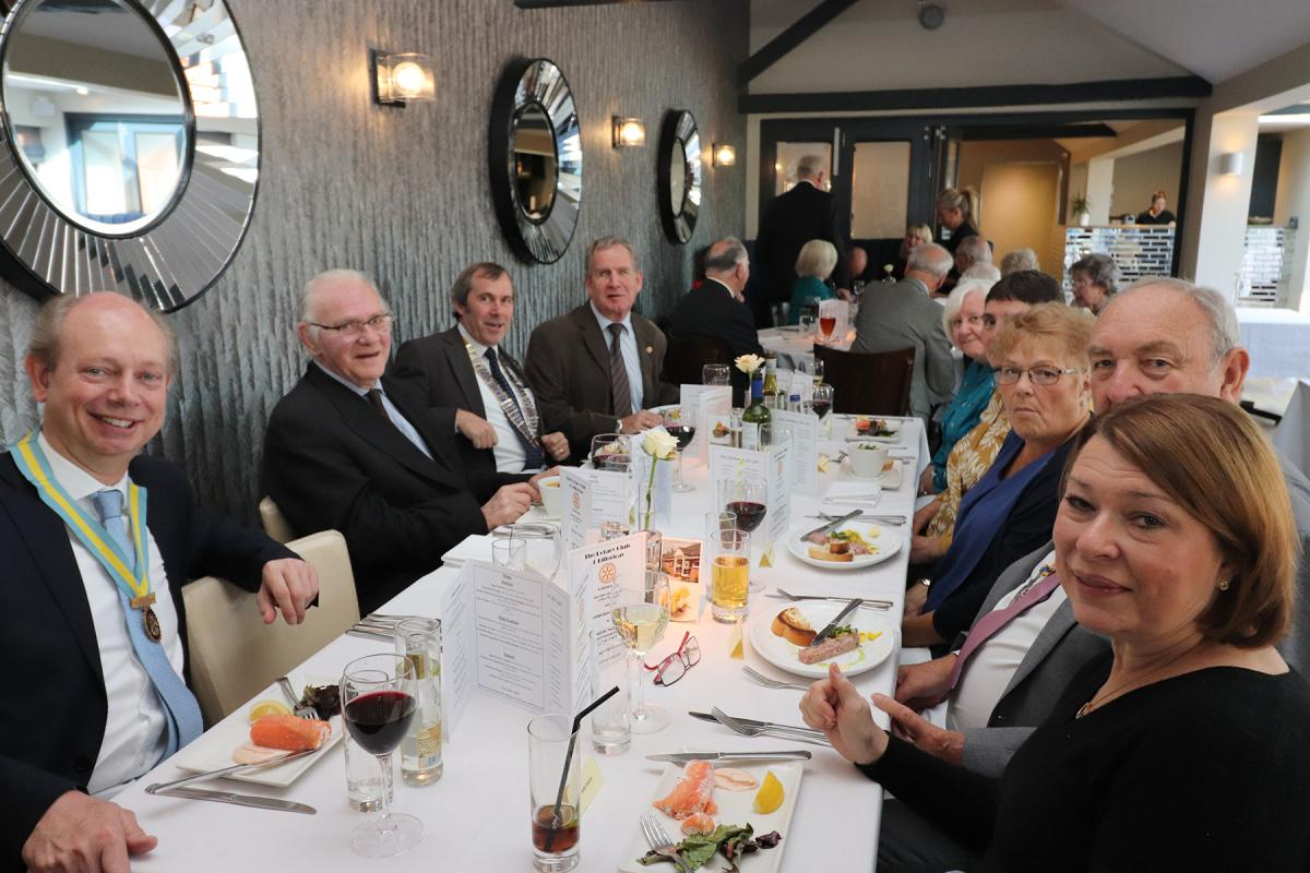 Top Table of honorary members and guests