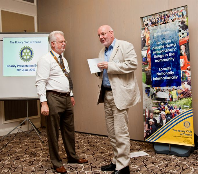 Charity Cheque Presentation -