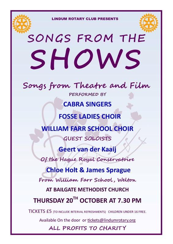 Songs from the Shows - A Concert from Local Choirs