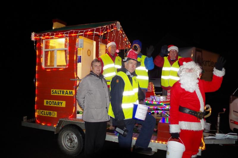 Each Christmas we roll out the sleigh (and Santa) to collect for local childrens' charities