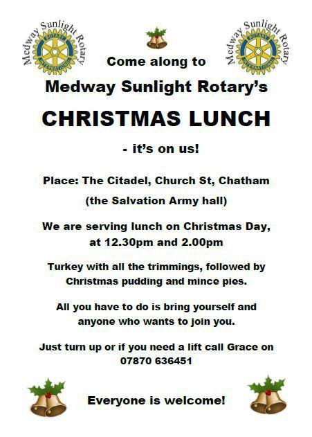 Christmas Lunch for the homeless and those on their own at Christmas -