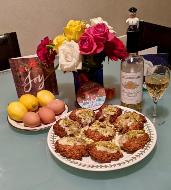 December 2020 Christmas oat cookies evening and wine tasting