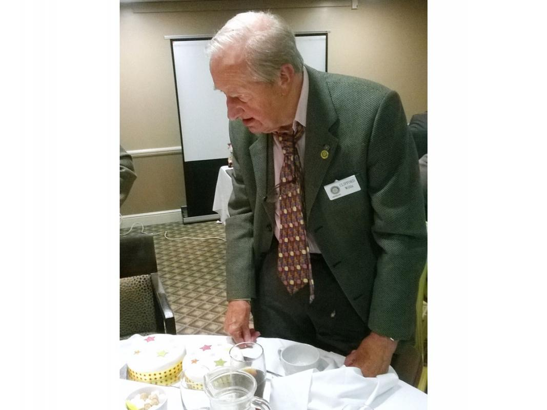 Members Moments - Clifford, eyeing up the cake as he celebrates his 94th birthday.