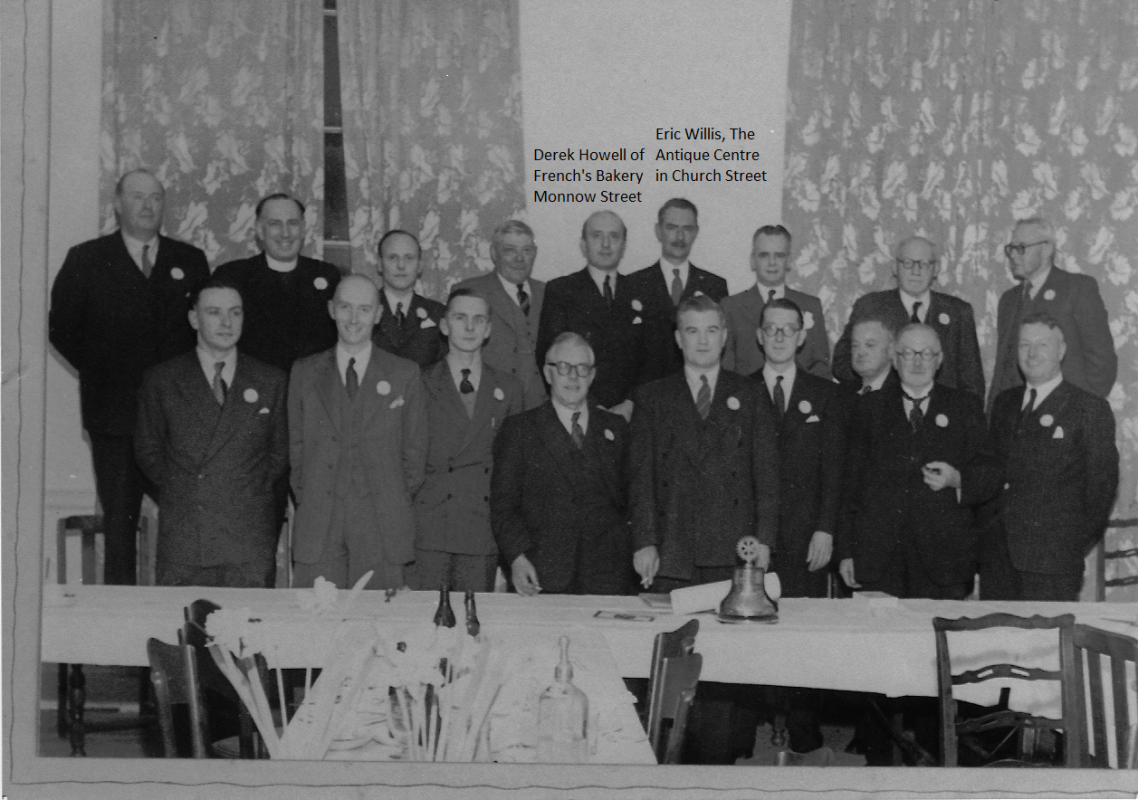 Rotary Club of Monmouth shortly after formation in 1953