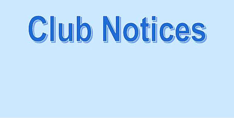 Club Notices