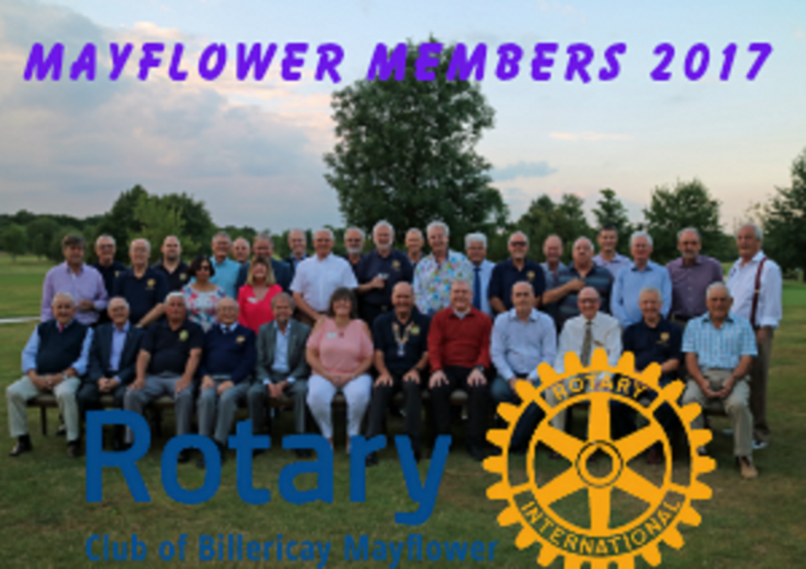 Members of Rotary Club Billericay Mayflower 2017