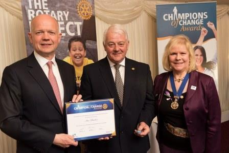 Roborough Rotarian IAN PARKER receives RBI award at House of Lords -