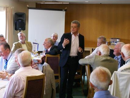Our social activities - Wessex Water Chief Executive, Colin Skellett OBE at a recent lunch