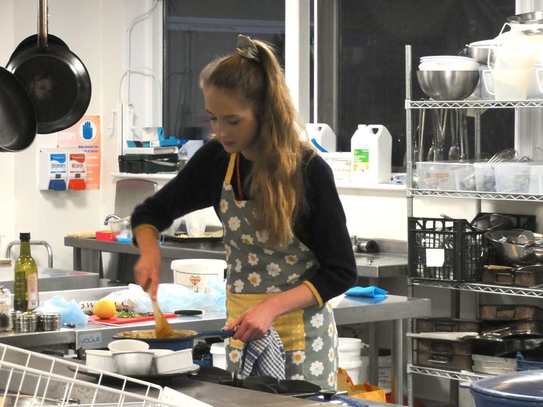 Rotary Young Chef 2018 - She tried just as hard as if she was competing with four others.