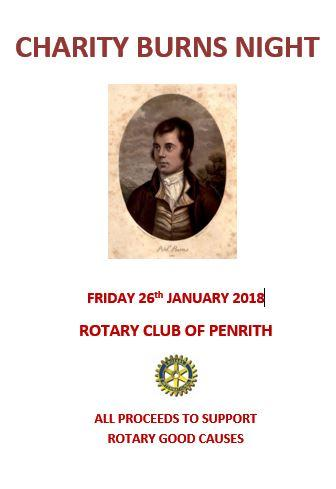 Charity Burns Supper 2018 -