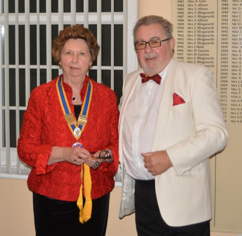 Baldock Rotary Welcomes New President -