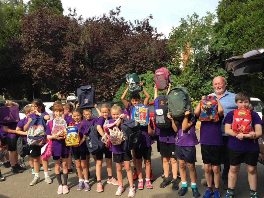 Bourton Meadow Academy (BMA) supports Buckingham's Backpack project in aid of Mary's Meals -