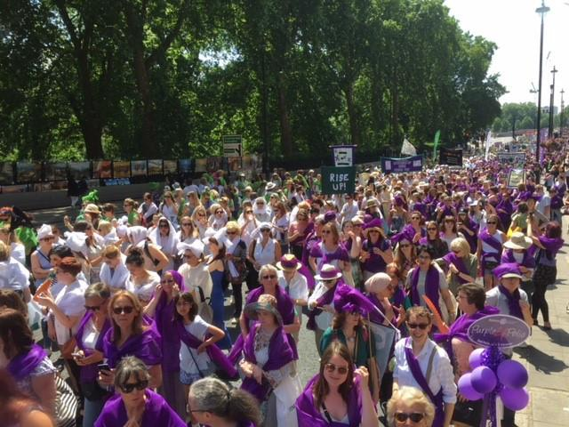Women's 100 years of Suffrage March -