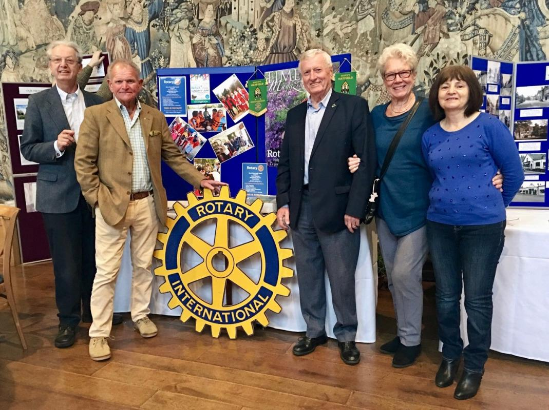 Hatfield Palace Coffee Morning - The Hatfield Rotary contingent