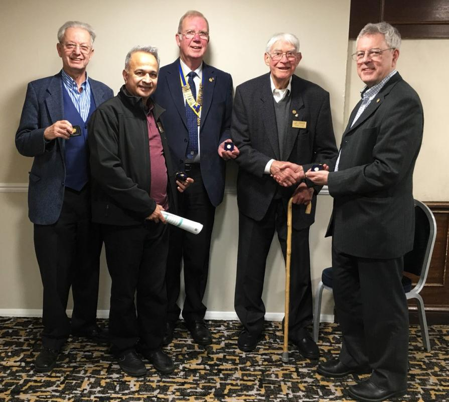 (left to right) Robert Addleman, Mukesh Patel, John Hopley, Frank Taylor and Andrew Picken