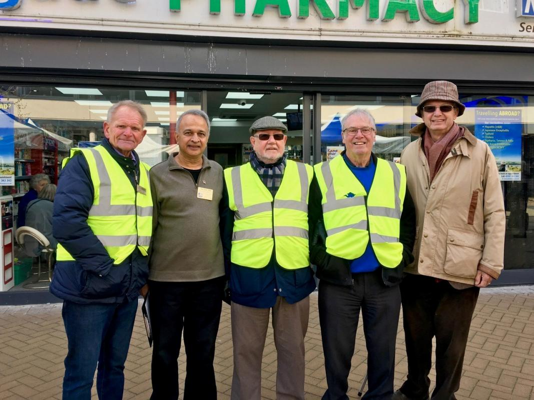A small section of our team L to R Barry Clark, Mukesh Patel (main organiser), Peter Oughton, David Kell and Robert Addleman