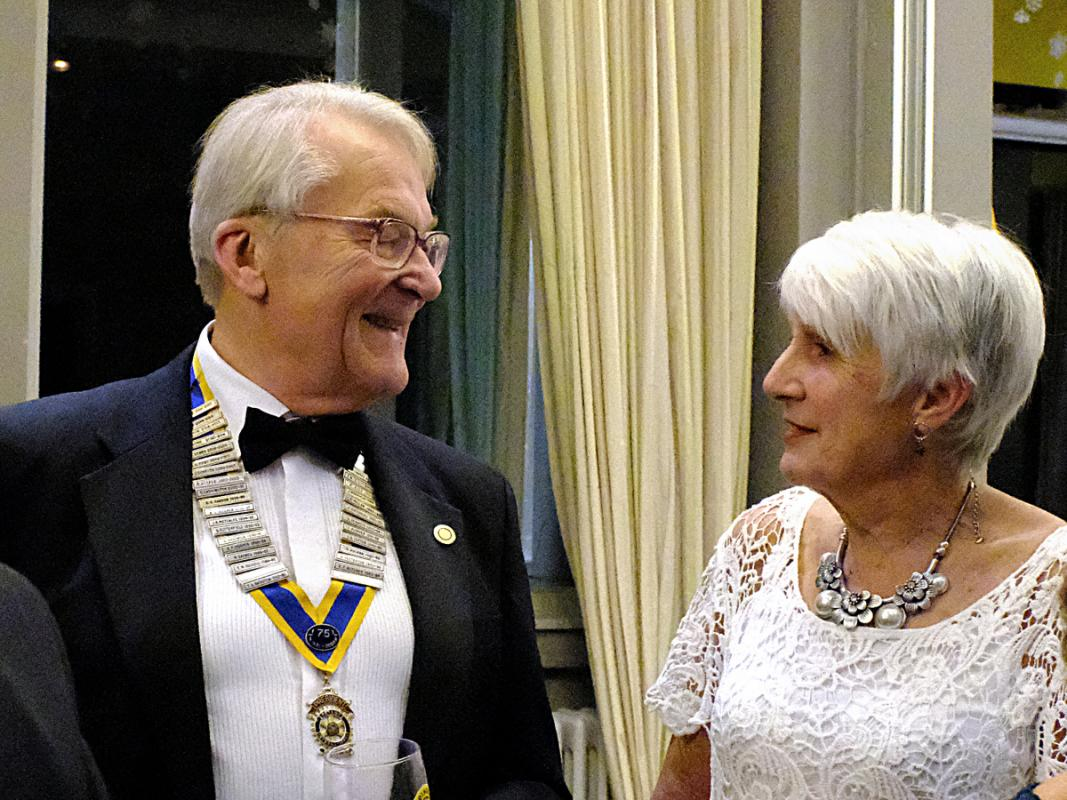 Rotary Club of Bingley Presidents Dinner - President Roger Carrington accompanied by Gabby Naylor