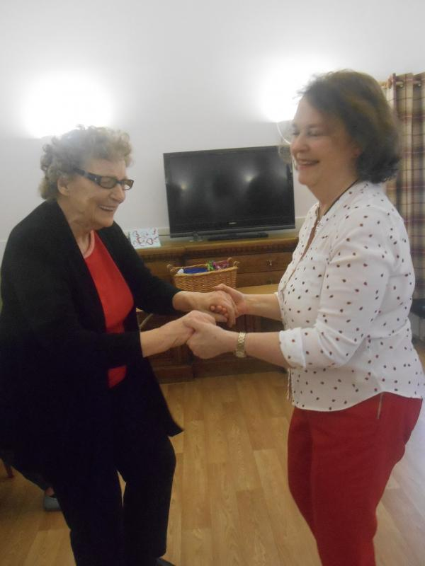 Volunteering in local Care Homes - Dancing with residents