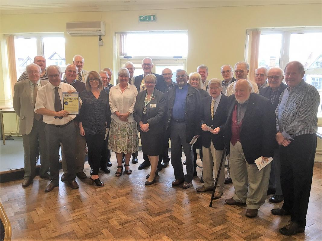 DG Beryl Cotton with Members of Nantwich Rotary Club 1st August 2017