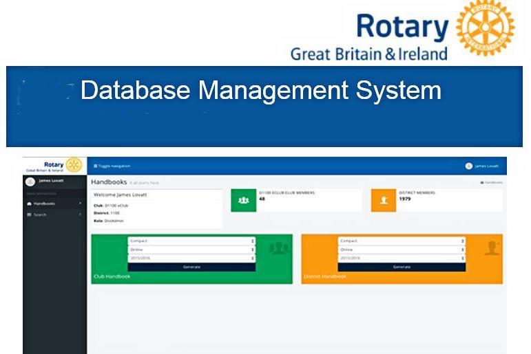 RIBI Database Management System - Rotary North East England