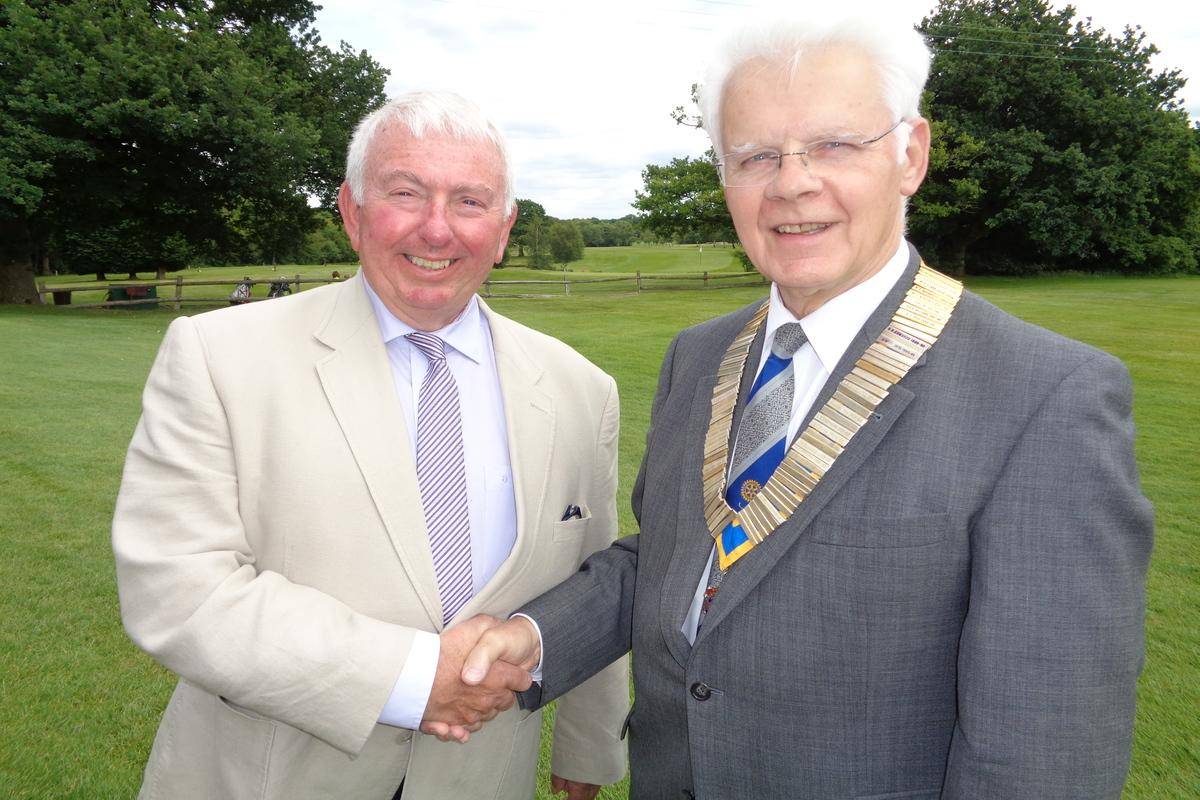 President Rob with Past President Cliff Gammon