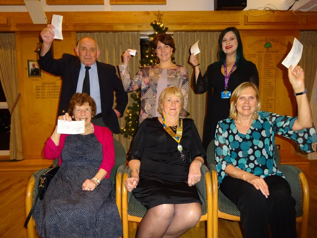 President Denise together with representatives of the charities that received the Christmas Collection cheques