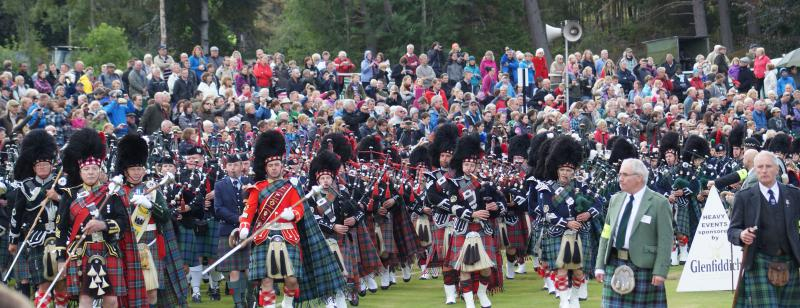 06/09 Welcome Back - Ikast Visit -   Massed Pipes and Drums