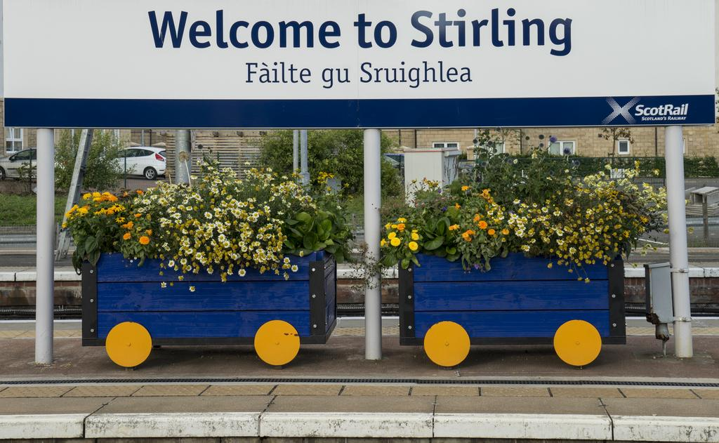 Springtime at the station -