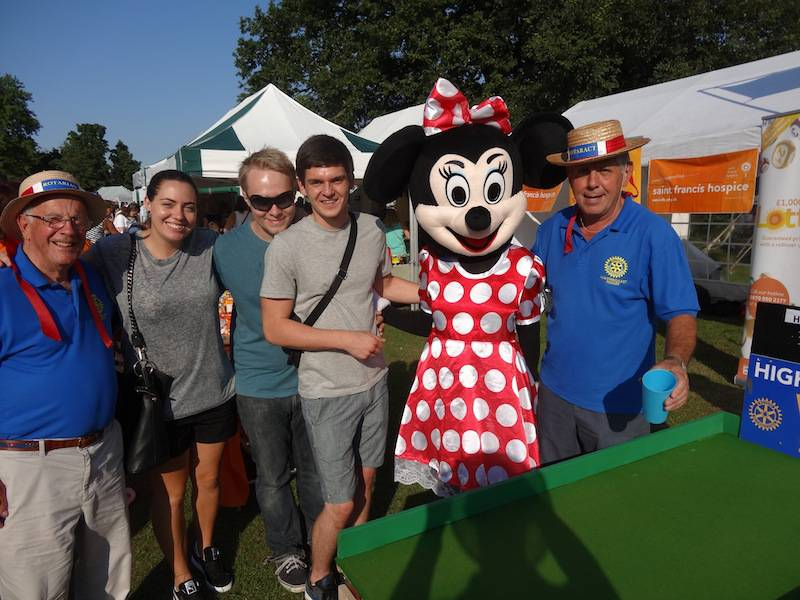 Havering Show with St Francis Hospice Aug 2013 - Minnie with the boys and girls