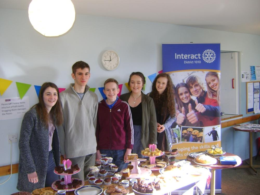 Dornoch Academy Interact support Dementia Charities - Club members and delicious cakes.
