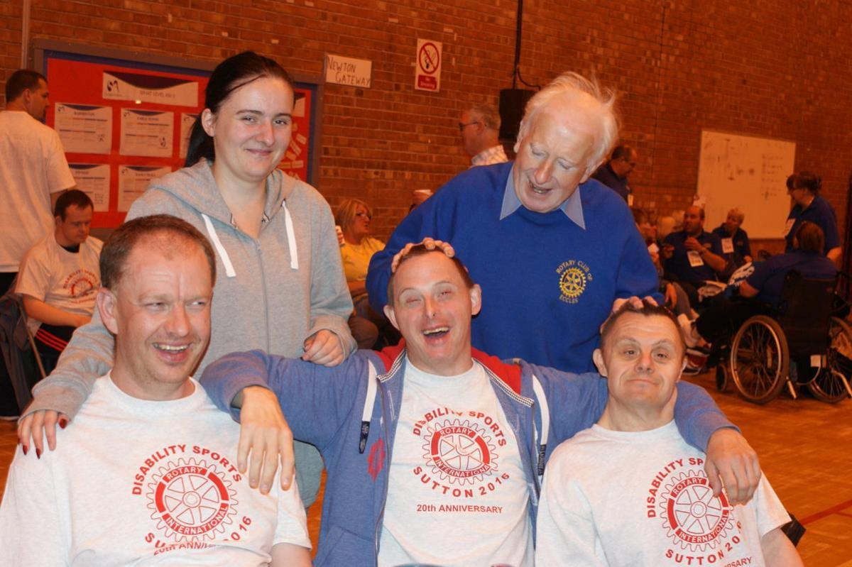 Disability Sports 2016 - Colin with some of the team