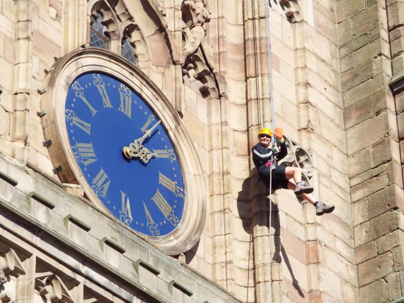 You don't have to abseil down Derby Cathedral - but on the other hand!!