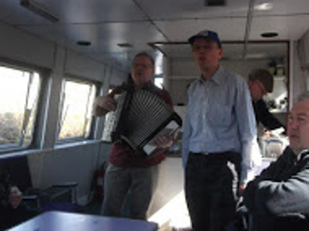 Community & Vocation - The Entertainers aboard a recent Headway Barge Trip