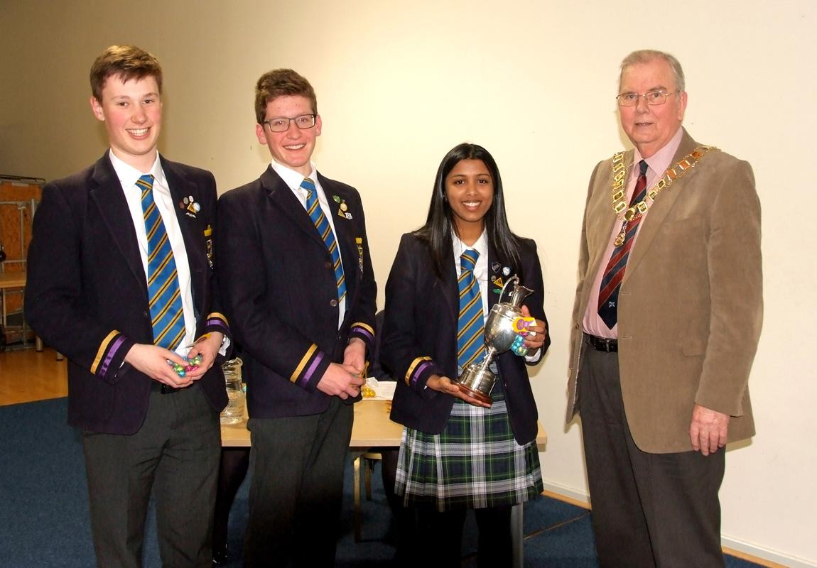 North of Scotland Senior Schools Public Speaking Competition - The winning team from Robert Gordon's College