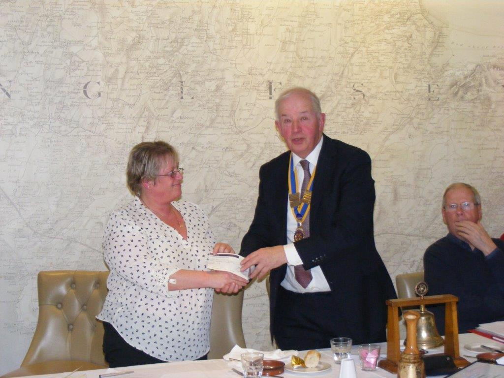Presentation to Ynys Mon Gymnastics Club -