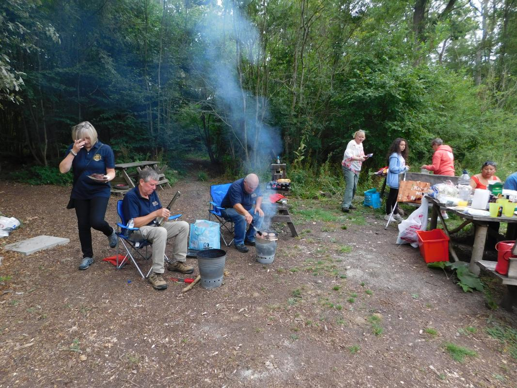 BBQ in the woods -