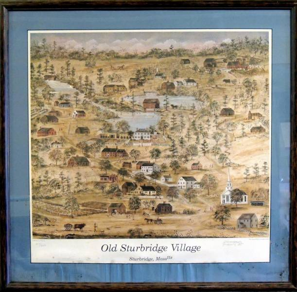Our Twin Club  in Sturbridge, Massachusetts -  Gifts Received and Given - Framed print of Old Sturbridge Village Map gifted to Stourbridge in 2002.