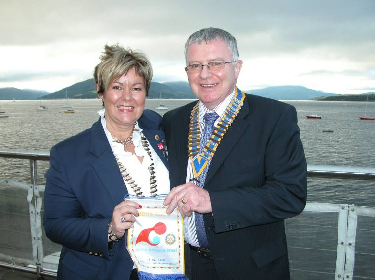 District Governor Catherine & President Norman