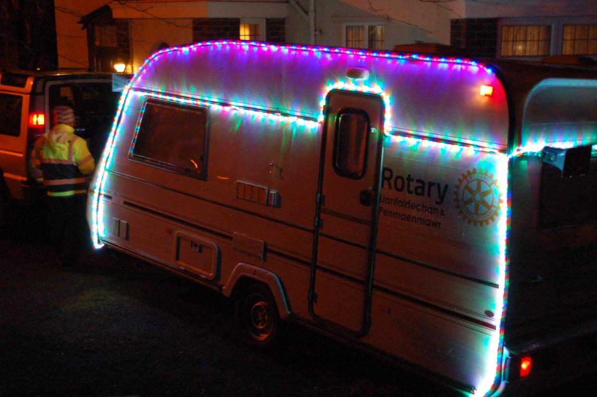 Father Christmas' Caravan, one of our most successful projects. Thanks to you, the community we raised over 2 thousand pounds in 2017