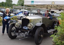 Helen Carmichael, Provost of Inverness, flags off the oldest entrant, a 1922 Vauxhall