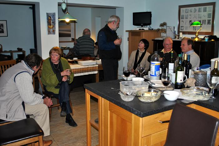 Spanish Gourmet evening at Ian and Carolyn's -