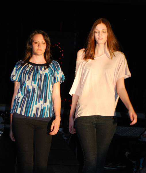 From Classroom to Catwalk - on the catwalk Niamh Henderson and Terri McGlone