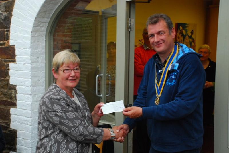 Local Charity Work - LCDI  Adult Disability Day Care gets help from Rotary Limavady