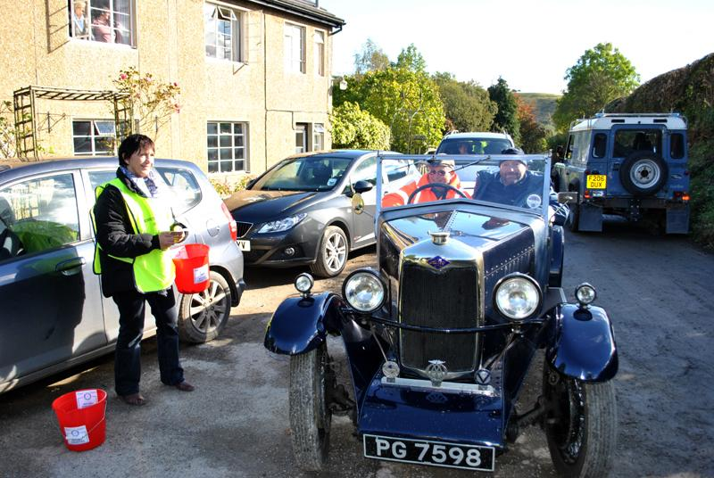 Car Rally parking for the VSCC near Whitton -